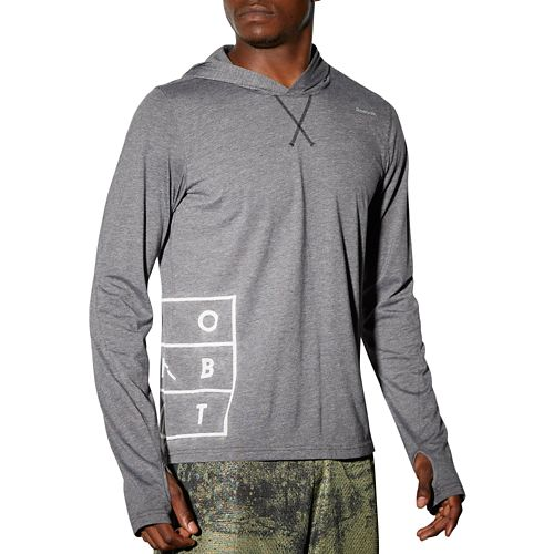 Mens Reebok RNF LW OTH Half-Zips & Hoodies Technical Tops - Black XL