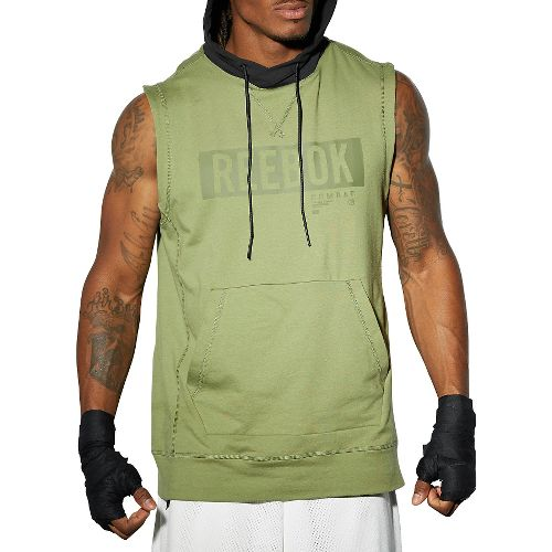 Mens Reebok TLAF Hoody Sleeveless & Tank Technical Tops - Canopy Green XXL