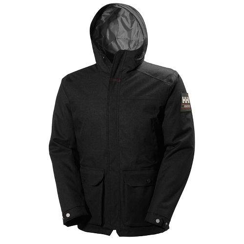 Mens Helly Hansen Brage Parka Cold Weather Jackets - Black L