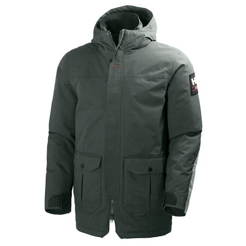 Mens Helly Hansen Urban Parka Cold Weather Jackets - Rock M