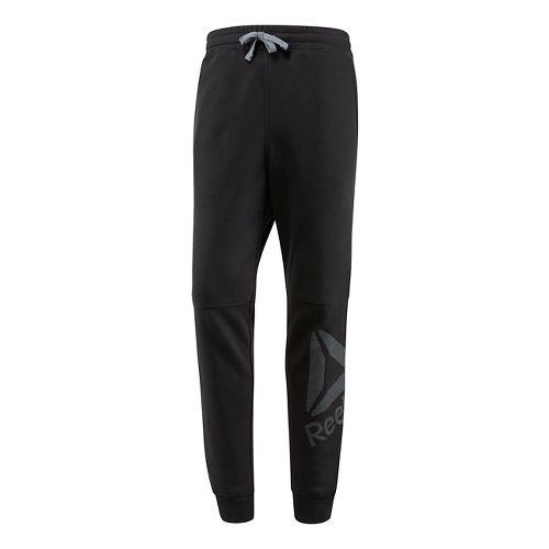 Mens Reebok WOR Big Logo Cotton Pants - Black XL