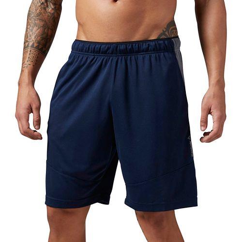Mens Reebok WOR KN Unlined Shorts - Navy M