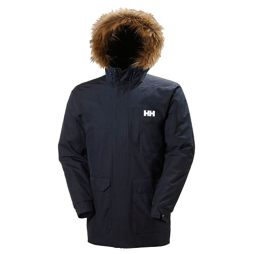 Mens Helly Hansen Dubliner Parka Cold Weather Jackets - Navy L