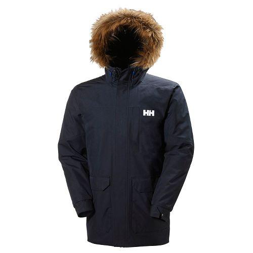 Mens Helly Hansen Dubliner Parka Cold Weather Jackets - Navy XL