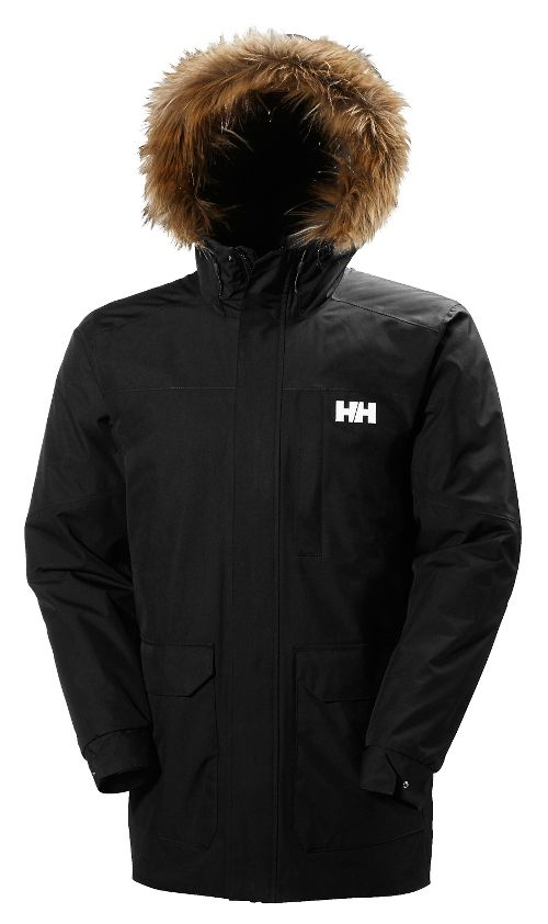 Mens Helly Hansen Dubliner Parka Cold Weather Jackets - Black S