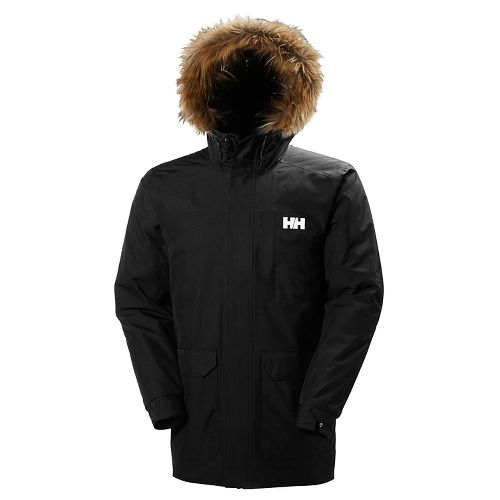 Mens Helly Hansen Dubliner Parka Cold Weather Jackets - Black XL