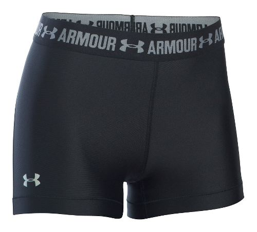 Womens Under Armour HeatGear Shorty Compression & Fitted Shorts - Black XS