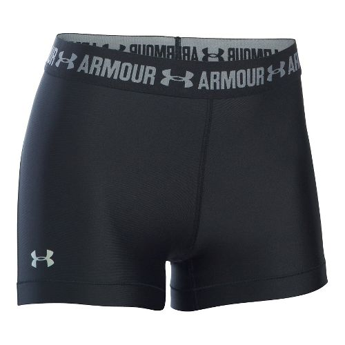 Womens Under Armour HeatGear Shorty Compression & Fitted Shorts - Black L