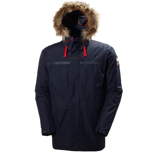 Mens Helly Hansen Coastal 2 Parka Cold Weather Jackets - Navy L