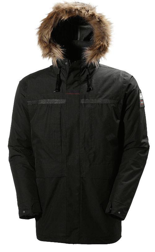 Mens Helly Hansen Coastal 2 Parka Cold Weather Jackets - Black L