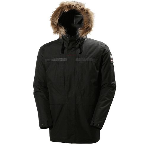 Mens Helly Hansen Coastal 2 Parka Cold Weather Jackets - Black S