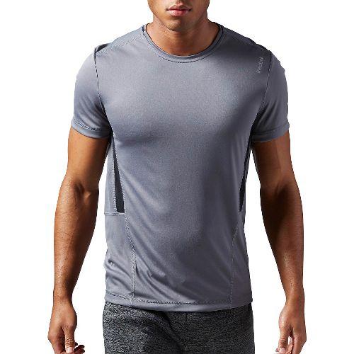 Mens Reebok Work Out Ready Tech Short Sleeve Technical Tops - Grey L