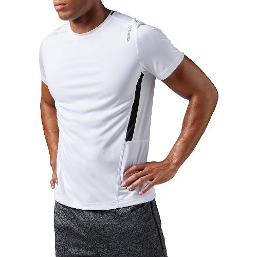 Mens Reebok Work Out Ready Tech Short Sleeve Technical Tops - White L