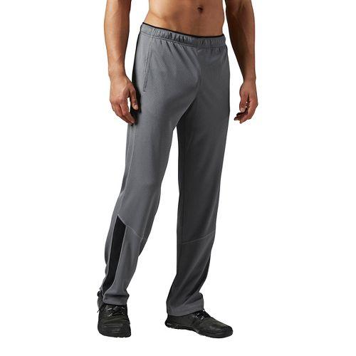 Mens Reebok Workout Ready Open Hem Knit Pants - Grey L