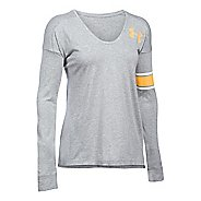 Womens Under Armour Volleyball Cotton Modal Long Sleeve Technical Tops