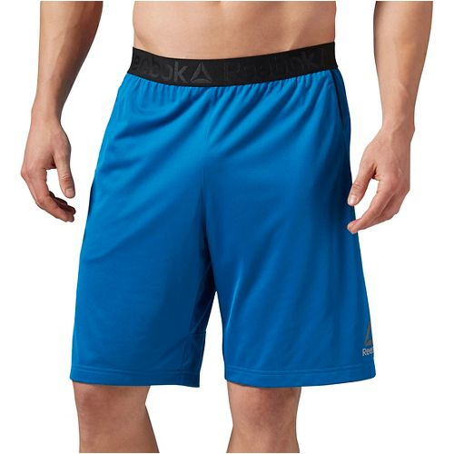 Mens Reebok Workout Ready Stacked Logo Unlined Shorts - Blue XS