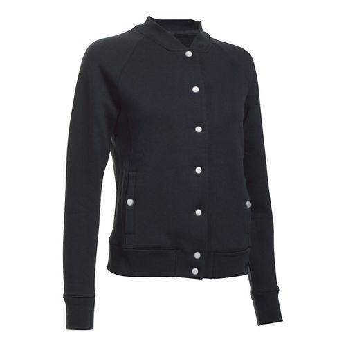 Womens Under Armour Varsity Fleece Bomber Casual Jackets - Black S