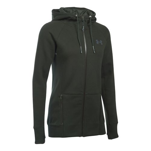 Womens Under Armour Varsity Fleece Full-Zip Hoodie & Sweatshirts Technical Tops - Artillery ...