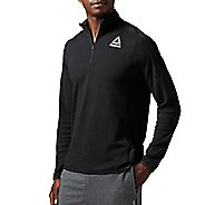 Mens Reebok Workout Ready Wool 1/4 zip Long Sleeve Technical Tops
