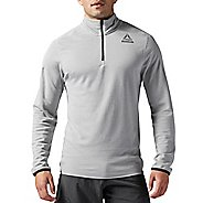 Mens Reebok Workout Ready Wool 1/4 zip Long Sleeve Technical Tops
