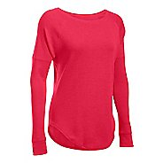 Womens Under Armour Waffle Raglan Long Sleeve Technical Tops