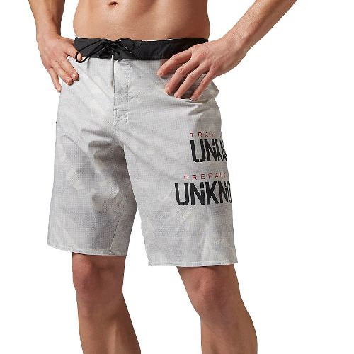 Mens Reebok Crossfit Super Nasty Core Camo Unlined Shorts - Chalk 36