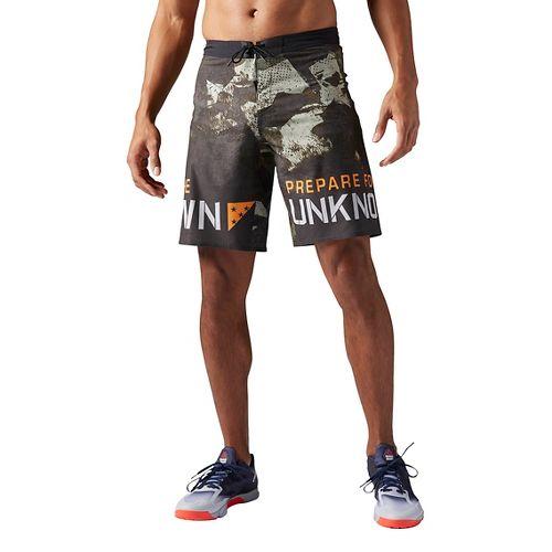 Mens Reebok Crossfit Super Nasty Core Camo Unlined Shorts - Hunter Green 36