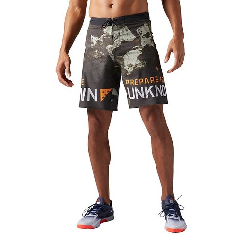 Mens Reebok Crossfit Super Nasty Core Camo Unlined Shorts - Hunter Green 36