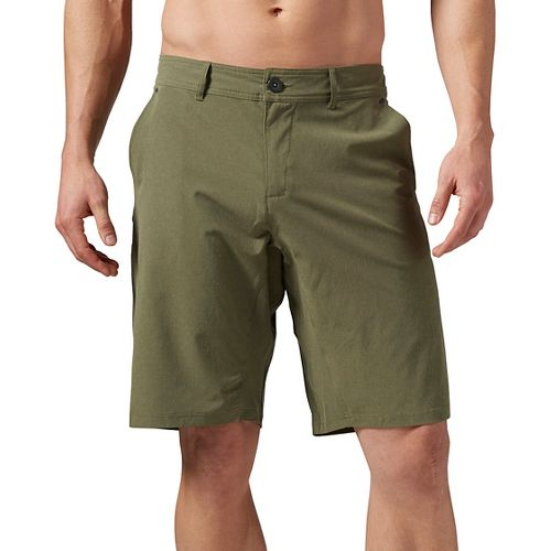 Mens Reebok ONE Series Nasty Hybrid Unlined Shorts - Canopy Green 36