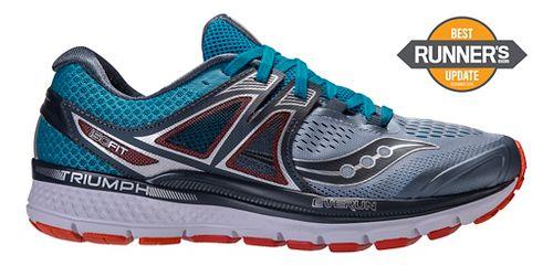 Mens Saucony Triumph ISO 3 Running Shoe - Grey/Blue 8