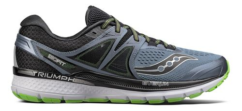 Mens Saucony Triumph ISO 3 Running Shoe - Black/Green 11