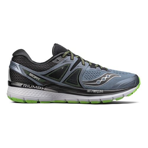 Mens Saucony Triumph ISO 3 Running Shoe - Black/Green 10.5