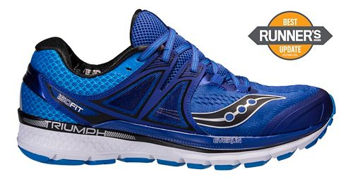 Mens Saucony Triumph ISO 3 Running Shoe - Blue/Silver 8.5