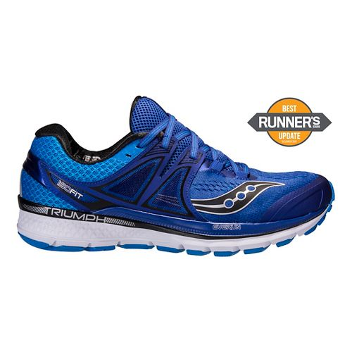 Mens Saucony Triumph ISO 3 Running Shoe - Blue/Silver 12.5
