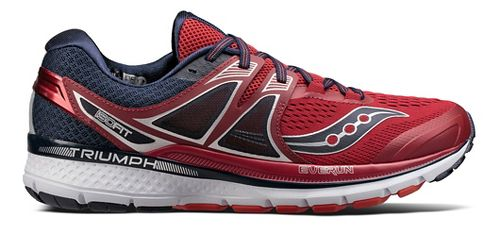 Mens Saucony Triumph ISO 3 Running Shoe - Red/Navy 10