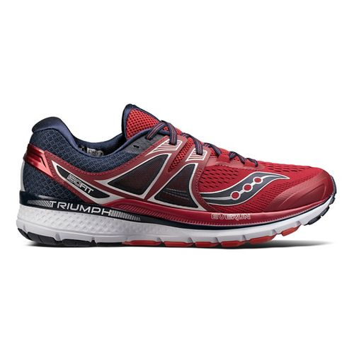 Mens Saucony Triumph ISO 3 Running Shoe - Red/Navy 7.5