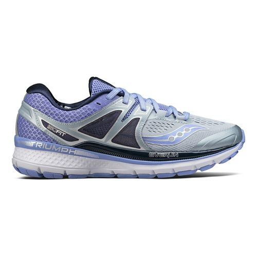 Womens Saucony Triumph ISO 3 Running Shoe - Grey/Blue 7.5