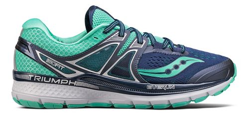 Womens Saucony Triumph ISO 3 Running Shoe - Navy/Turquoise 7