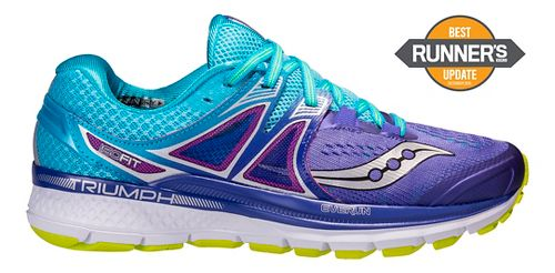 Womens Saucony Triumph ISO 3 Running Shoe - Purple/Blue 8
