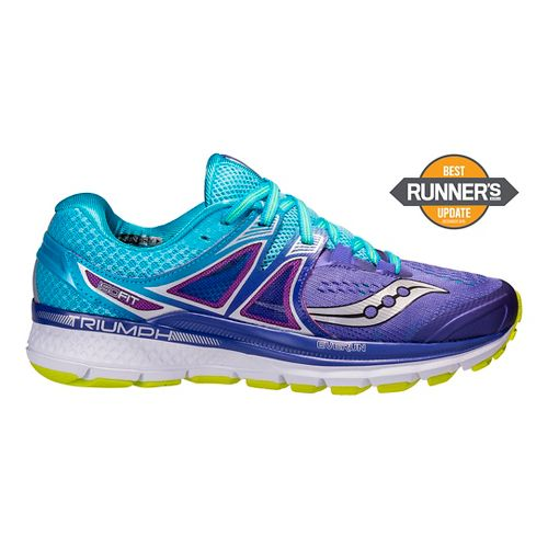 Womens Saucony Triumph ISO 3 Running Shoe - Purple/Blue 10