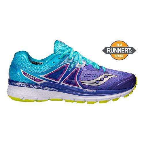 Womens Saucony Triumph ISO 3 Running Shoe - Purple/Blue 8.5