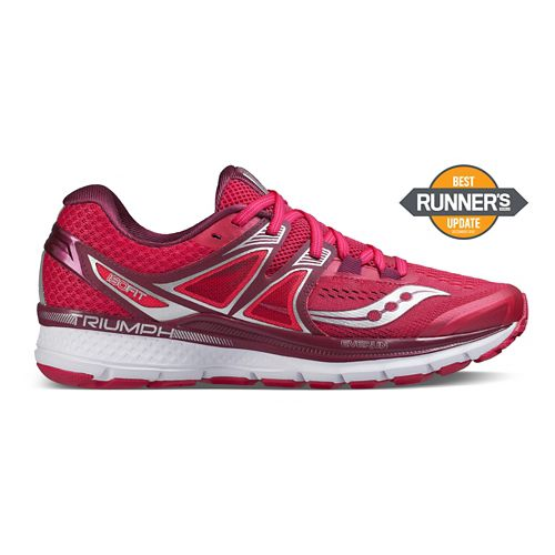 Womens Saucony Triumph ISO 3 Running Shoe - Pink/Berry/Silver 7.5
