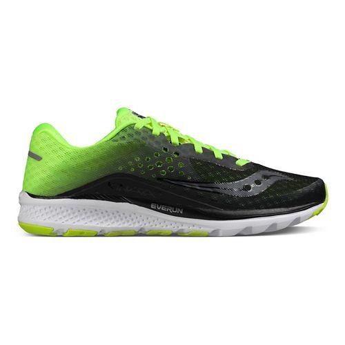 Mens Saucony Kinvara 8 Running Shoe - Black/Citron 12.5