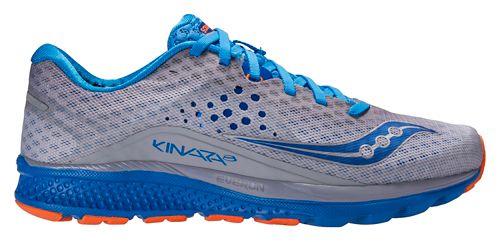 Mens Saucony Kinvara 8 Running Shoe - Grey/Blue 10.5