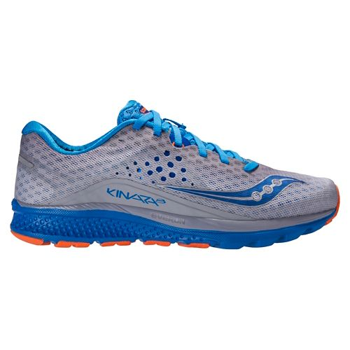 Mens Saucony Kinvara 8 Running Shoe - Grey/Blue 10.5