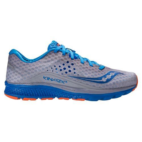 Mens Saucony Kinvara 8 Running Shoe - Grey/Blue 12.5