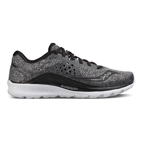 Mens Saucony Kinvara 8 Running Shoe - Marl/Black 14