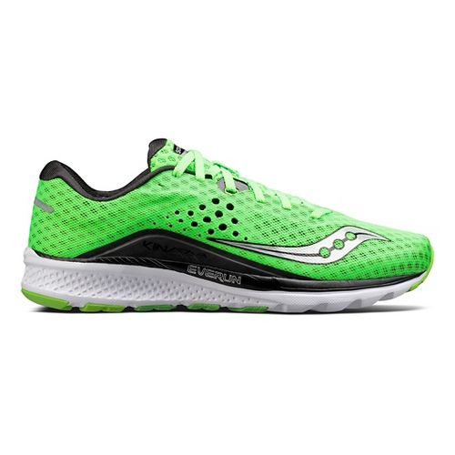 Mens Saucony Kinvara 8 Running Shoe - Slime/Black 7