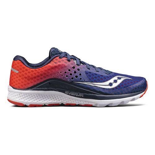 Mens Saucony Kinvara 8 Running Shoe - Navy/Orange 12
