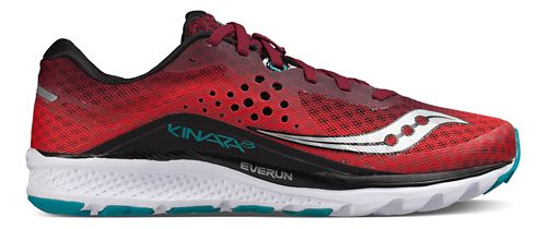 Mens Saucony Kinvara 8 Running Shoe - Red/Black/Teal 11